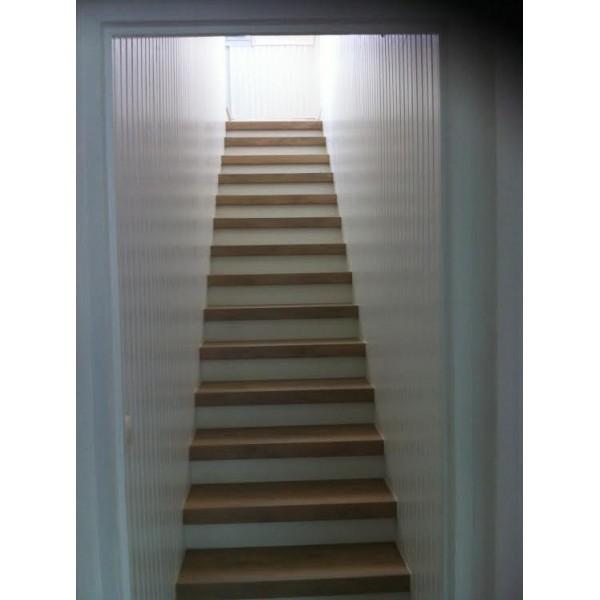Recouvrement escalier bois d cor ch ne blanchi 69230 st for Achat escalier bois
