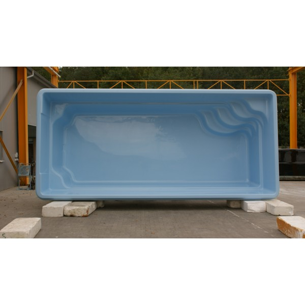 Prix piscine coque rectangulaire 6m50x3mx1m50 for Piscine rigide pas cher