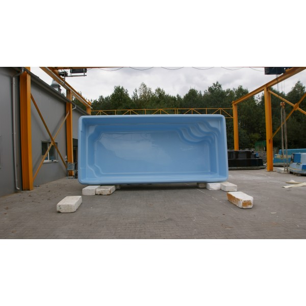 Prix piscine coque rectangulaire 7m60x3mx1m50 for Piscine encastrable pas cher