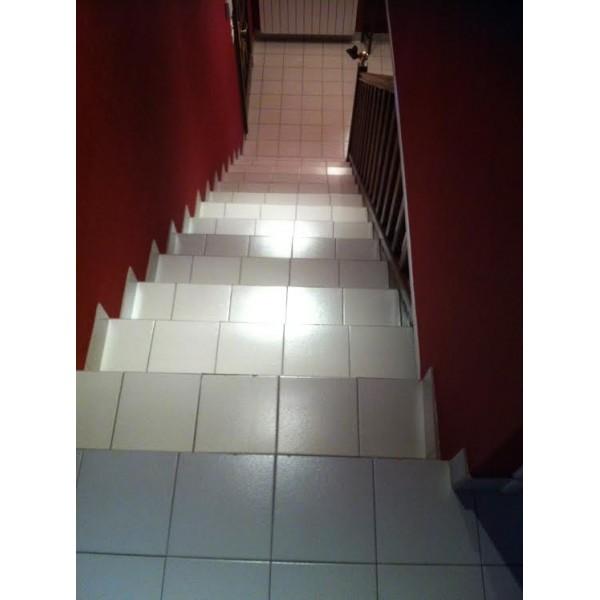 R nover escalier b ton d cor ardoise 69230 st genis laval - Renover escalier beton ...