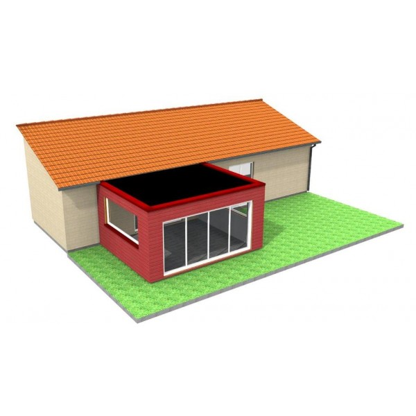 V randa en bois standard ou sur mesure lyon - Modele de veranda en bois ...