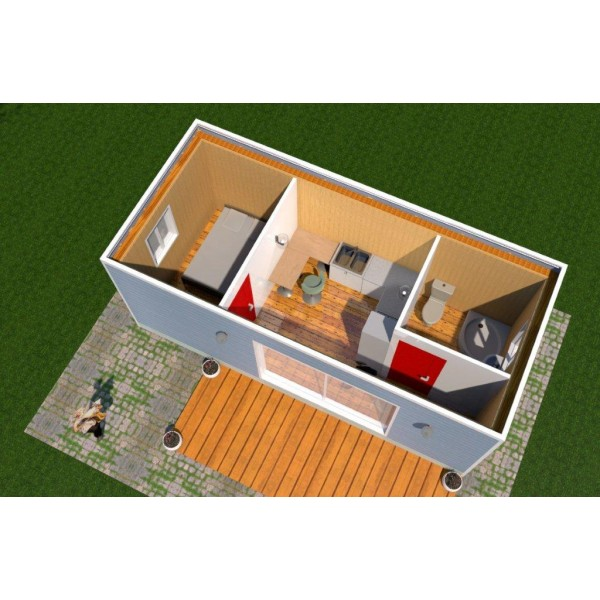 Amnagement de container excellent container ft m for Plan amenagement container habitable