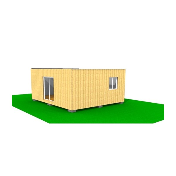 Laboratoire container 42m2 for Maison container 69