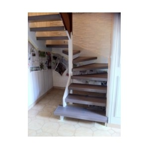habillage ch ne argent sur escalier ouvert 69360 solaize. Black Bedroom Furniture Sets. Home Design Ideas