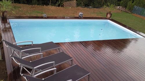 piscine bois rectangulaire monte par un particulier piscine discount en bois mais effet russi dimensions intrieures du bassin 7mx3m50 - Piscine Bois Enterree Rectangulaire