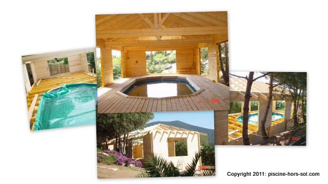 chalet bois amenagement poolhouse et spa