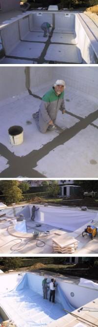 Piscine beton construction et montage devis en ligne for Pose liner piscine beton
