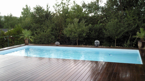 Piscine en bois rectangulaire enterrable shangai 8mx4m for Piscine hors sol acier rectangulaire