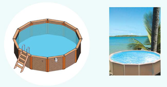 Piscine ronde piscine en bois composite - Piscine hors sol composite ...