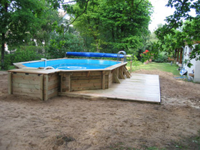 Local technique bois pour piscines for Local technique piscine semi enterree