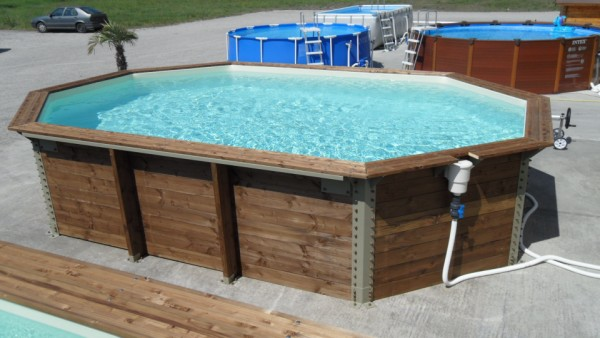 Achat piscines bois ovale 2 995 euros - Piscine bois octogonale lyon ...