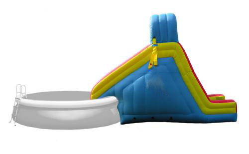 Toboggan gonflable pour piscine for Piscines gonflables