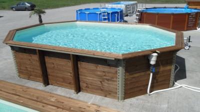 Galerie photos montage piscine octogonale monter son for Prix liner pour bassin