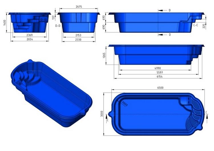 prix piscine coque prix canon 6m50x3mx1m40. Black Bedroom Furniture Sets. Home Design Ideas