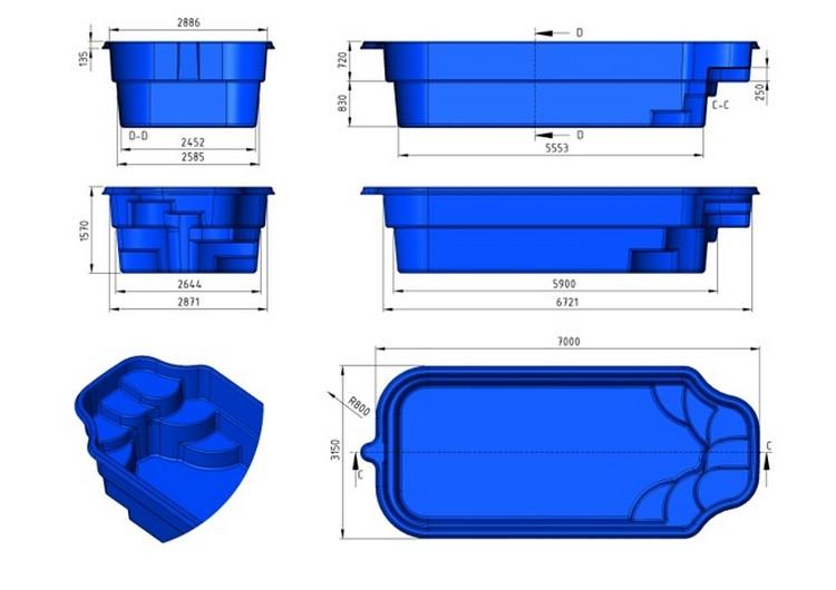 Prix piscine coque prix canon 7mx3m15x1m55 for Piscine coque polyester hors sol