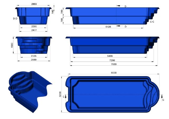 prix coque piscine prix canon 8mx3m20x1m50. Black Bedroom Furniture Sets. Home Design Ideas