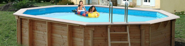 Kit piscine bois hexagonale octogonale ovale for Promo piscine bois octogonale