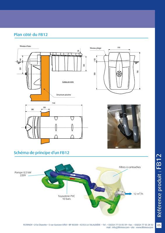 Groupe filtrant autonome non modulable sbf 12 pc for Groupe filtrant pour piscine