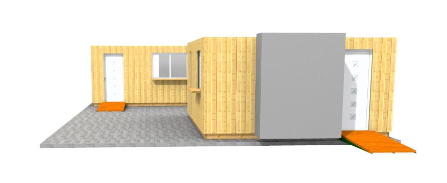 Montage containers bureaux en bois morzine haute savoie - Achat container habitable ...