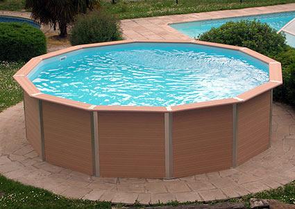 Piscine hors sol bois composite piscine plastique | Lesitedegertrude