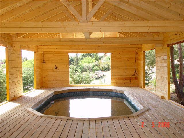 piscine bois isere